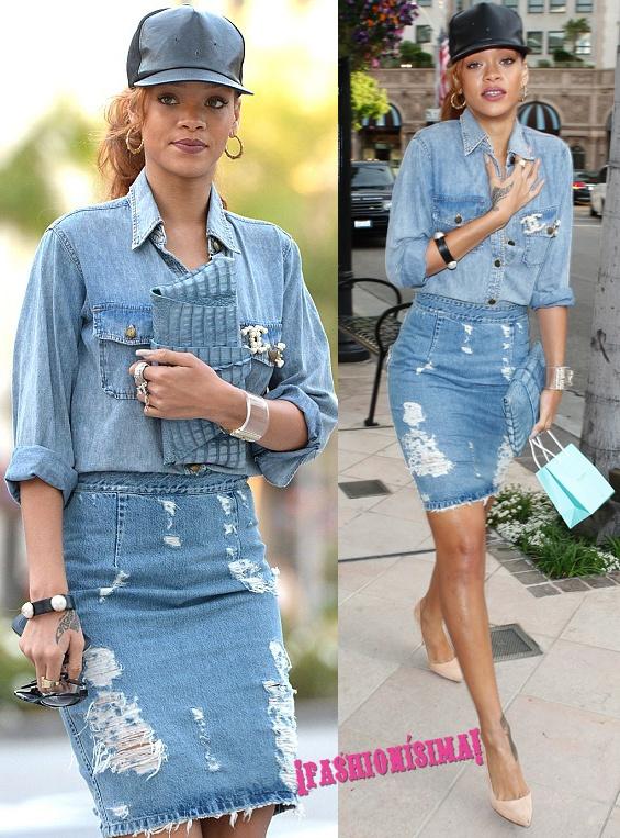 Copia el doble look vaquero (y rasgado) de Rihanna o Miranda Kerr