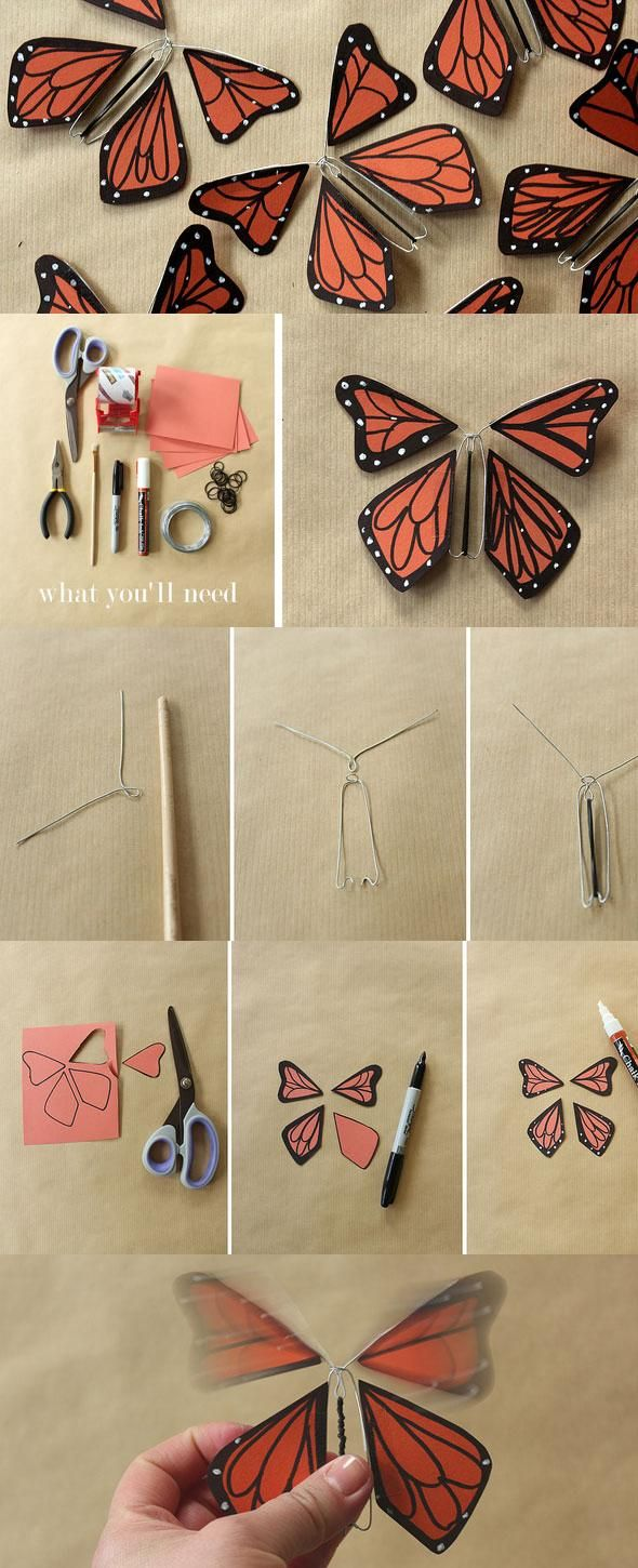 Wind-up Paper Butterflies