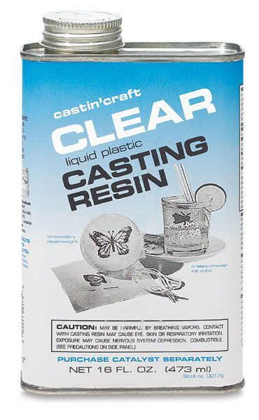 Pour Clear Polyester Casting Resin | Clear, colorless liquid, very low viscosity. Usually added in quantities of 0.5% to 3.0% of weight of resin for curing. Store in a cool place, keep tightly closed. Purchase ½ oz for a pint or quart of resin, and 1 oz for a gallon of resin.