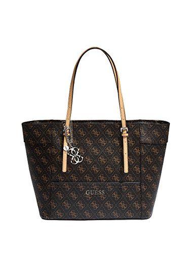 GUESS Women's Delaney Logo Small Classic Tote Bag - Handbag