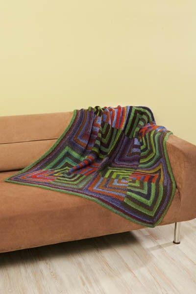 Free Universal Yarn Pattern : Mitered Square Throw