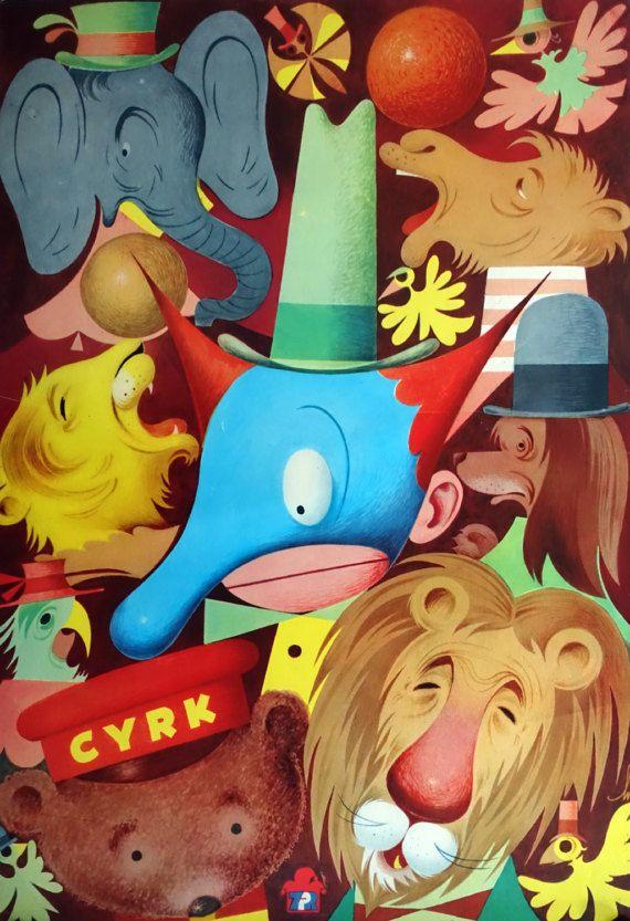 1980 CYRK Circus Poster by Andrzej Wiercienski  by OutofCopenhagen