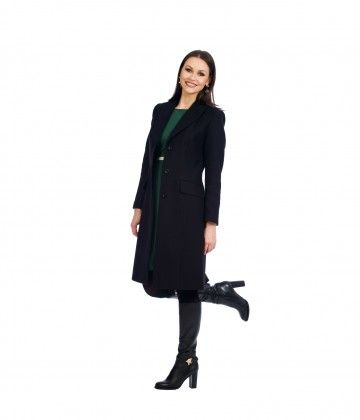 Palton negru colectia toamna/iarna 2016-2017 NICHI CRISTINA NICHITA