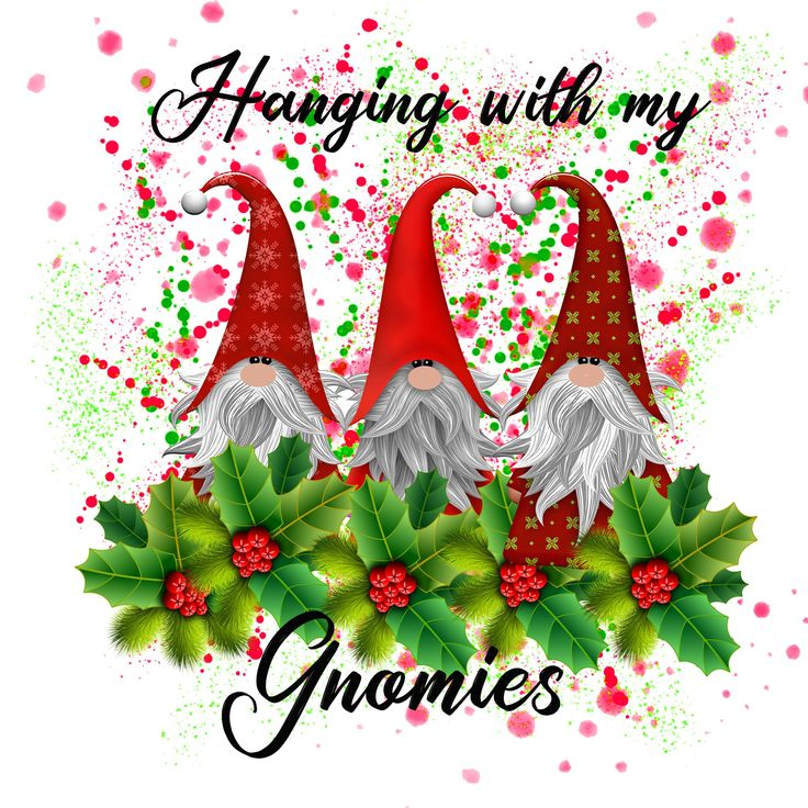 Gnomes sublimation png file Christmas gnomes instant ...