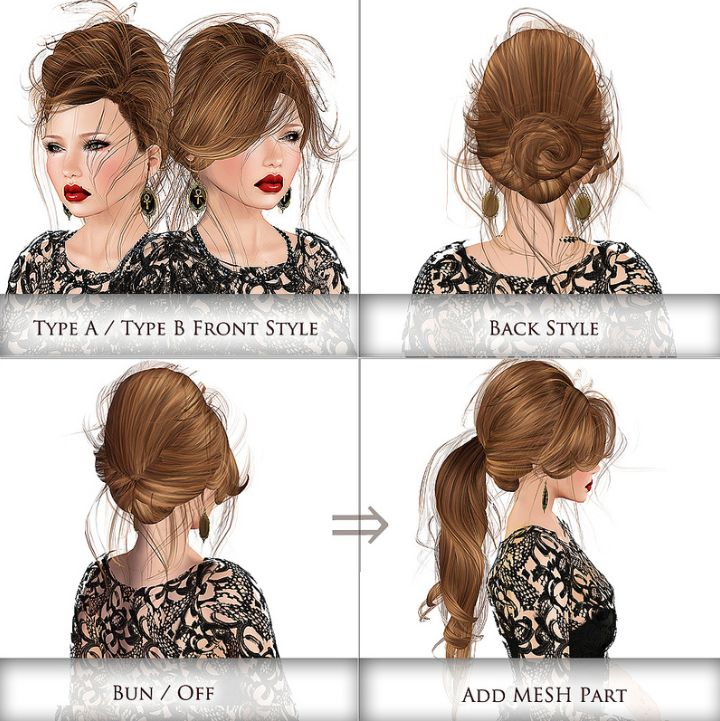 Low back dress hairstyles for medium