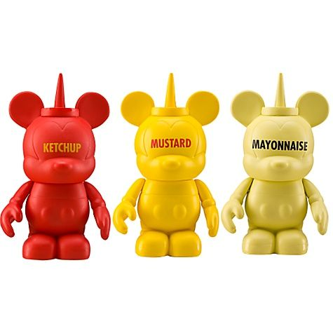 mickey mouse condiment set