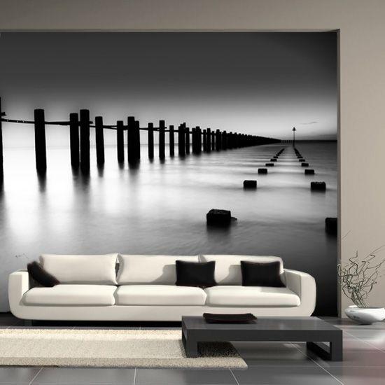 Foggy seaside wallpaper