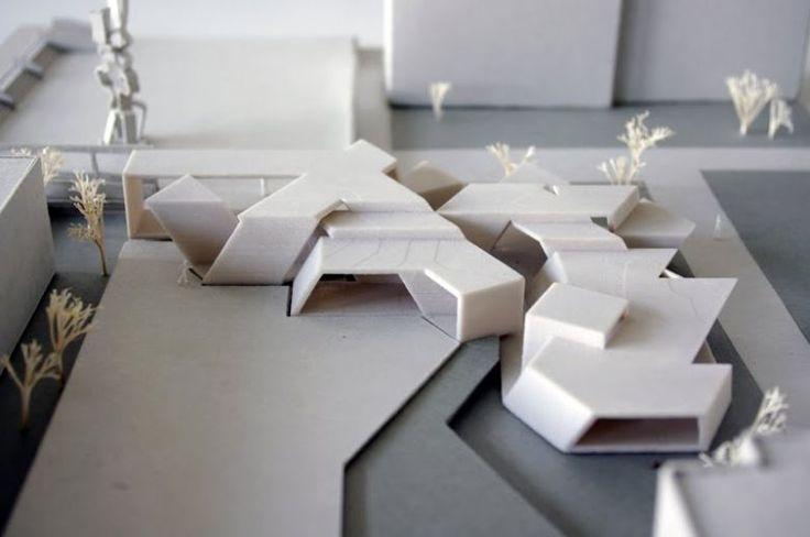 Projekt Kiezklänge - Folded surfaces controlled by parametric digital model