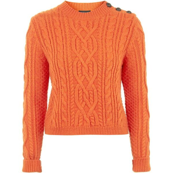 Fix A Shrunken Wool Sweater: TOPSHOP Shrunken Cable Knit Sweater ($75) Liked On