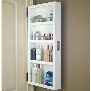 This cabinet that attaches to the back of your door. | 23 Unexpected Things You Didn't Know Your Bathroom Needed