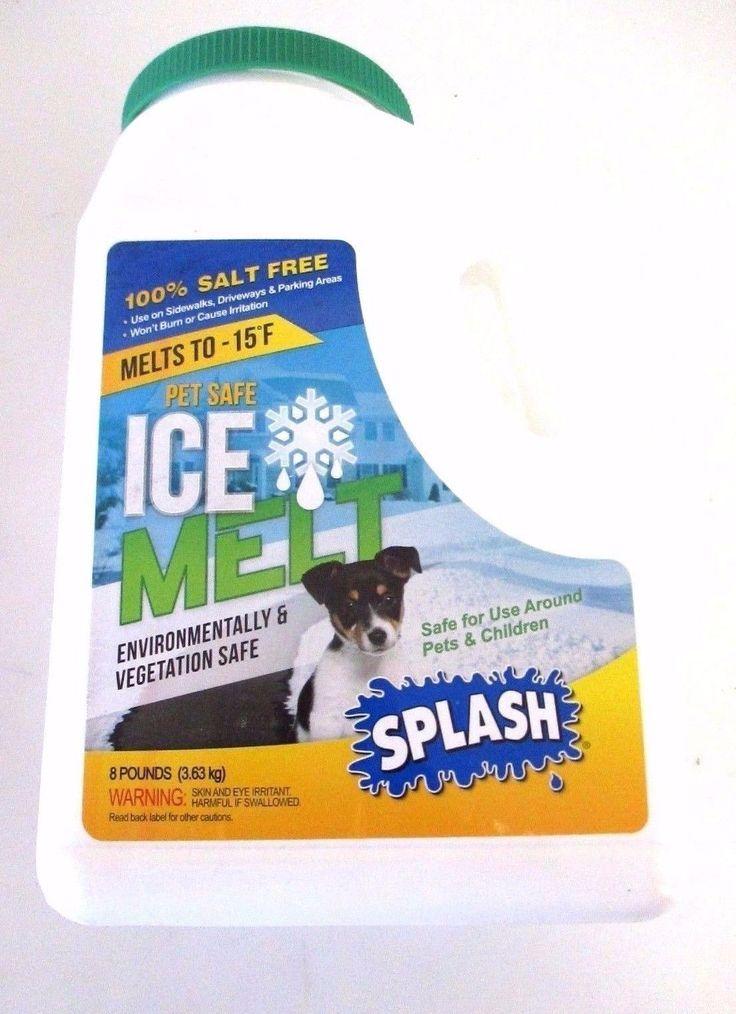 Splash Pet Safe Ice Melt Environmentally and Vegetation Safe