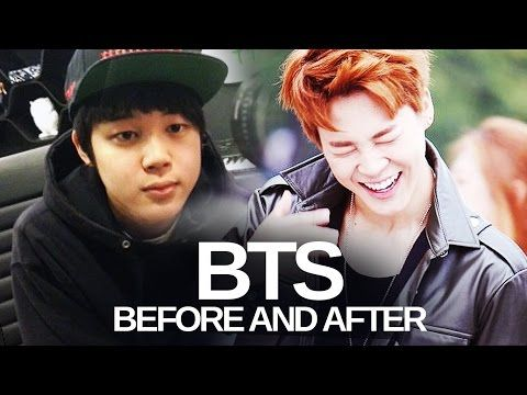BTS - Predebut Vs Now : Before and After - YouTube