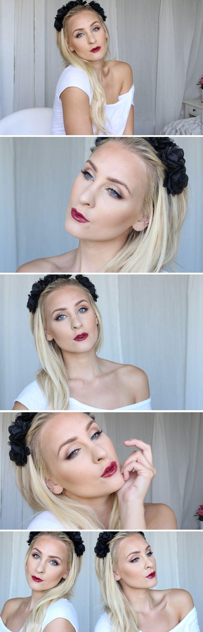 Dagens makeup – HÖSTIGT VINRÖTT   Helen Torsgården