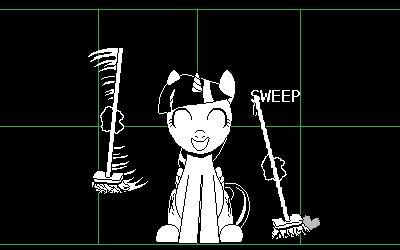 e926 2016 animated broom brush crossover equine female friendship_is_magic hogep horn mammal my_little_pony solo…