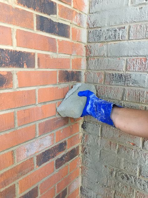 How To Do a German Smear Mortar Wash on Brick (Dave and Brittany's Fixer Upper!)…