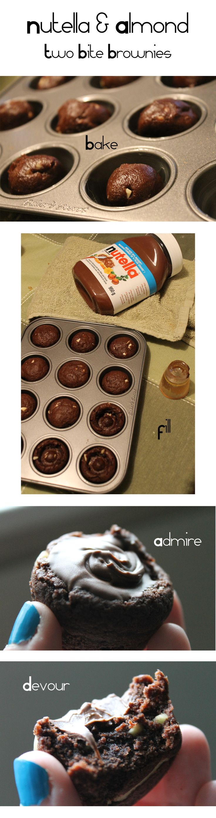 Daisy Chubb's Tea and Treats » Blog Archive » Recipe: Nutella Cookie Cups – Two Bite Brownie Edition!