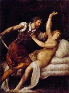 Le viol de Lucrèce par le Titien.