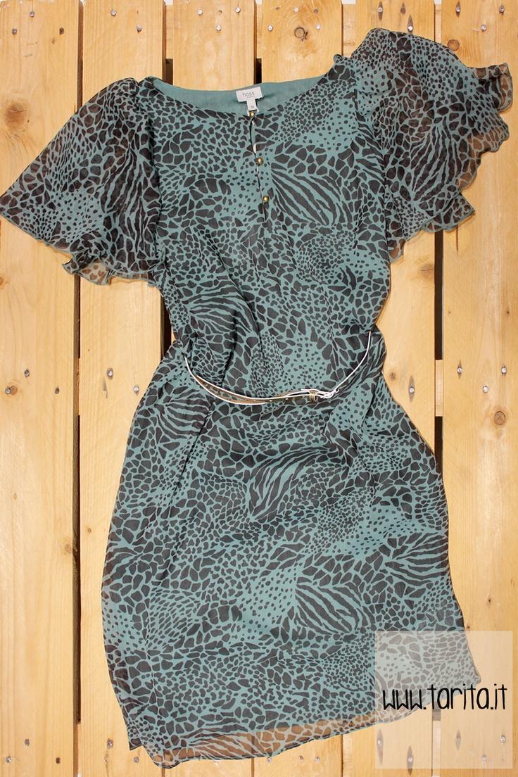 Tarita S/S 2013. Hoss intropia, green & black dress.