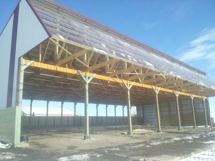Solar front cattle barn. Tim Fuchs Construction