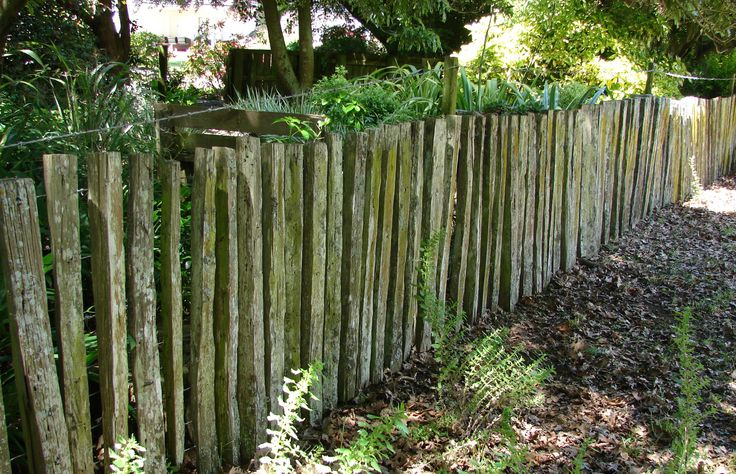 100 year old Totara half fencing battens make for a rustic look ....