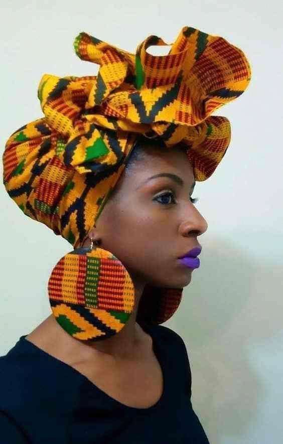 Kente Headwrap African Fashion Ankara Kitenge African