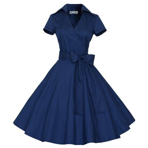 Maggie Tang 50s 60s Vintage Short Sleeves Swing Rockabilly Full Circle Party Dress at Amazon Women's Clothing store: