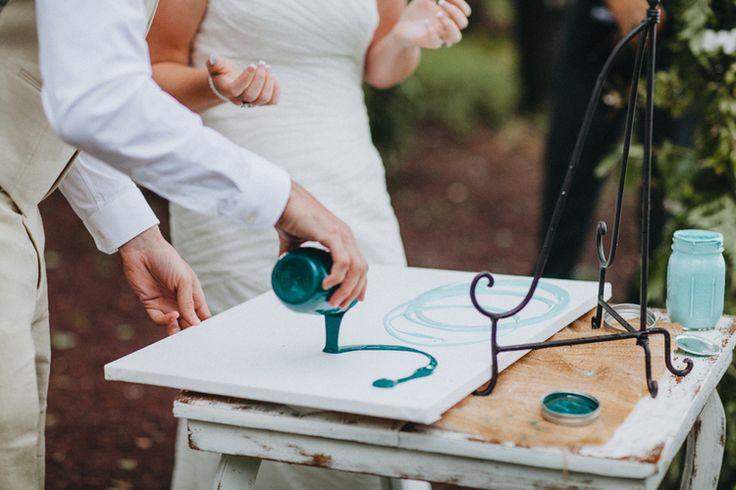 Lazy Oaks Pinetop Arizona. Jay & Jess Photography AZ Weddings. Turquoise Rustic Weddings. Unity painting
