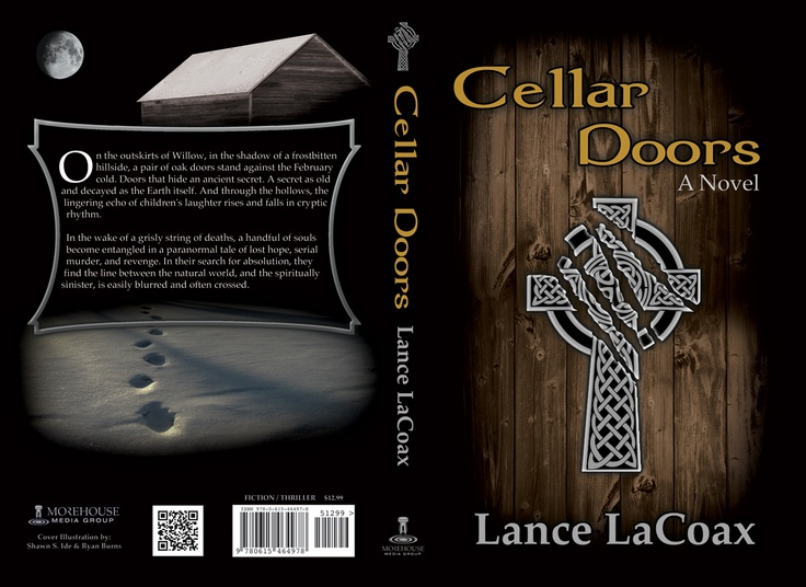 As the cover evolved, visual elements of the story began to take shape. The torn cross against the wooden door, and the footsteps leading to the shack positively reeked of mystery.
