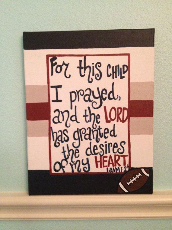 Sports Baby Boy Nursery Christian Bible Verse by TheCrazyPolkaDot, $40.00