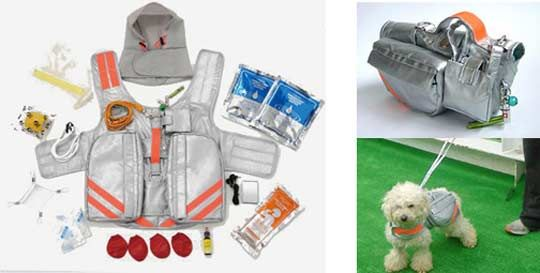 $528 for a pet emergency jacket... because you don't want your dog to be zombie food either.