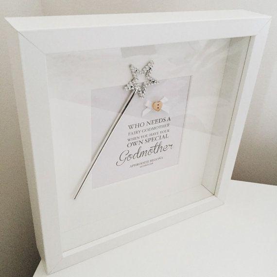 Special Godmother frame | Box frame art, Godparent gifts ...