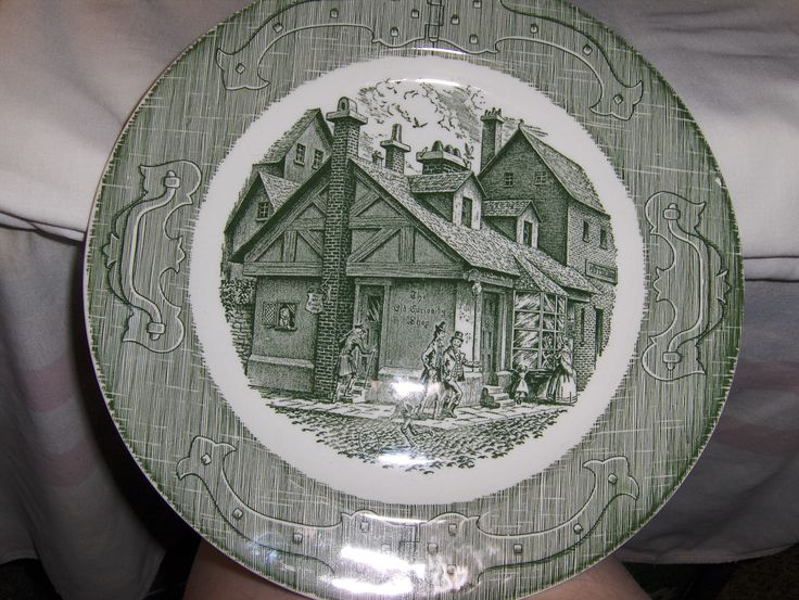 """""""The Old Curiosity Shop""""   Collection consists of the following:  1 cup    1 sugar bowl-no lid     6  6"""" plates   2  10"""" dinner plates     $30.00 includes FREE SHIPPING in the continental 48 USA --- Local pick-up in the Muncy, PA area - $15.00"""
