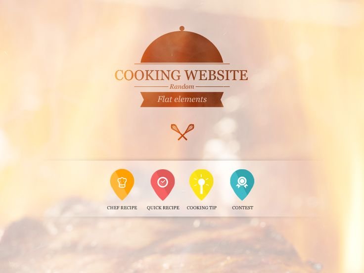 Cooking website random flat elements by Thibault Rouquet