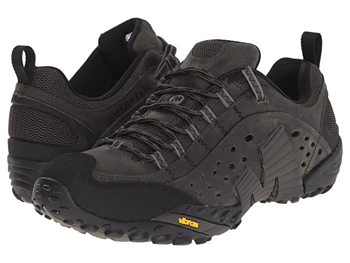 Mens Merrell Intercept Mens Walking Training Casual Comfortable Shoes Black