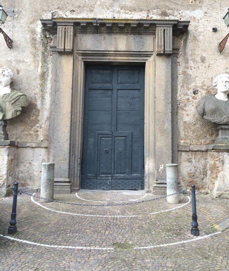 The noble entrance of palazzo Odescalchi, Bassano Romano, Tuscia