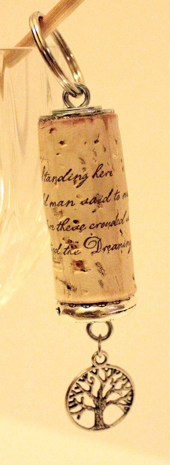 Dreaming Tree Wine Cork Key Chain