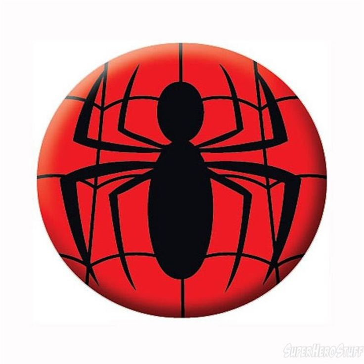 Spiderman Symbol Button | Logos, Spiderman and Buttons