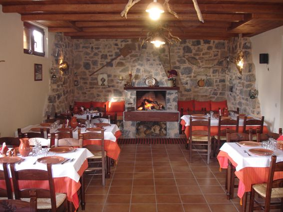 Traditional cretan tavern