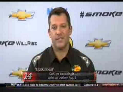 ESPN NASCAR Now: Tony Stewart discusses his injury, recover and comeback, as well as all of the happenings at Stewart-Haas Racing  http://www.youtube.com/watch?v=EBNEpDqvFhY