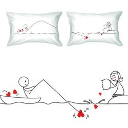 Catch My Heart Couple Pillowcase Set