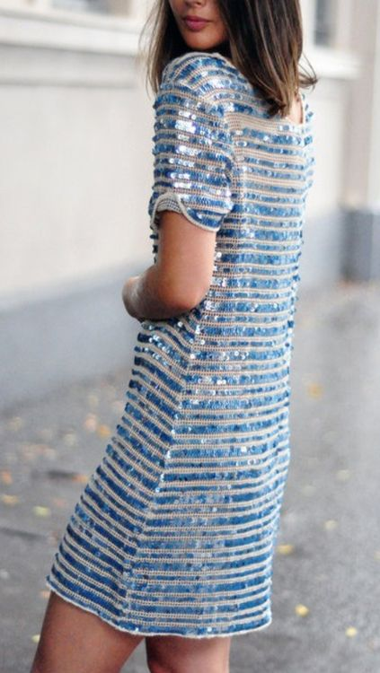 subtle blue sequins