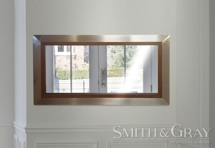 Custom made mitred mirror frame with silver outer and timber inset - See more at: www.smithandgray.com.au
