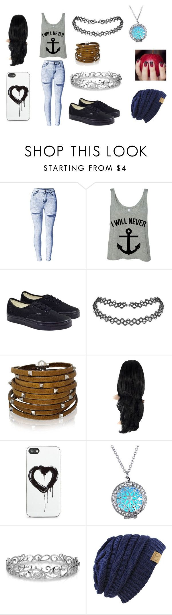 """""""Thing"""" by zahlia-tibbs on Polyvore featuring beauty, Vans, Sif Jakobs Jewellery, Zero Gravity and Effy Jewelry"""