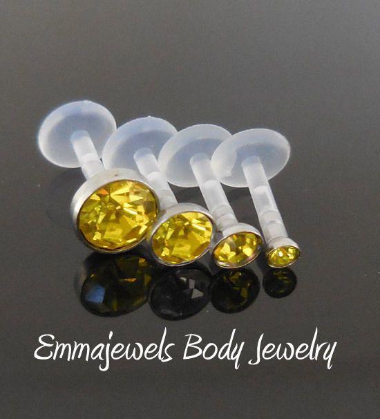 Yellow 16G 2,3,4,5mm Bioplast Triple Forward Helix 6, 8mm Tragus Bioflex Labret   Jewelry & Watches, Fashion Jewelry, Body Jewelry   eBay!