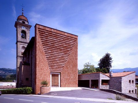 Parish church, Genestrerio, Ticino Switzerland | Mario Botta