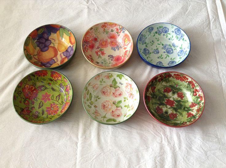 Platos hondos de cristal, bowls