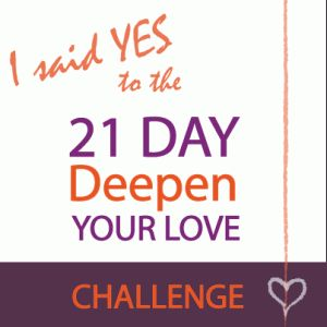 Pledge to deepen your love for self and other for 21 Days  http://eepurl.com/NSawr