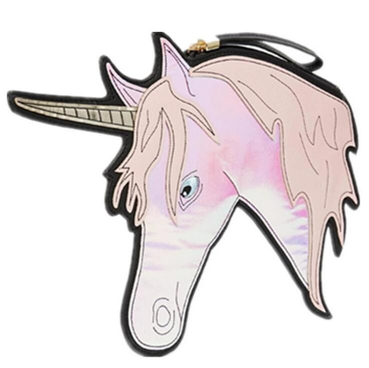 New Unicorn Look Women Girls Chic Laser Clutch Purse Leather Evening Bags for Party Ladies Wristlet Horse Head Planar Bag Bojack www.bernysjewels.com #bernysjewels #jewels #jewelry #nice #bags