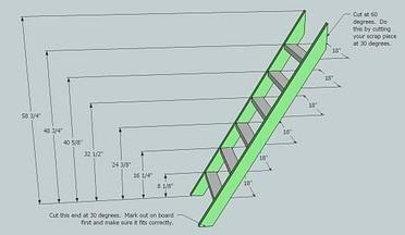 Bunk Bed Ladder Plan