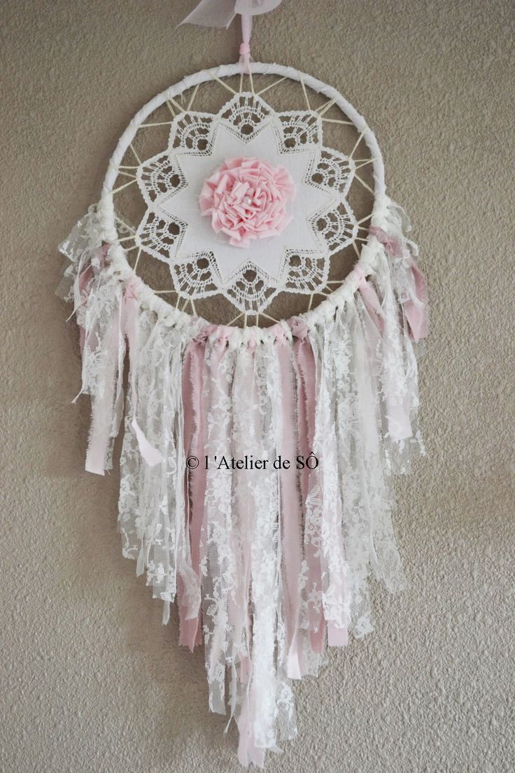 R serv attrape r ves dream catcher shabby ou romantique - Faire attrape reve ...